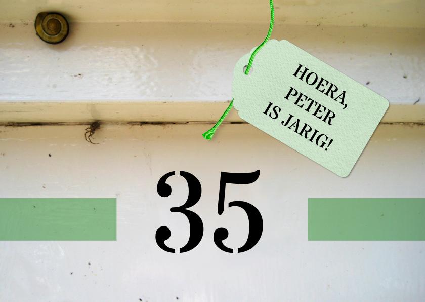 Verjaardagskaart - huisnummer 1