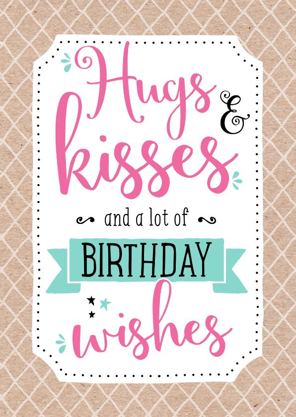 Verjaardagskaart Kisses 1