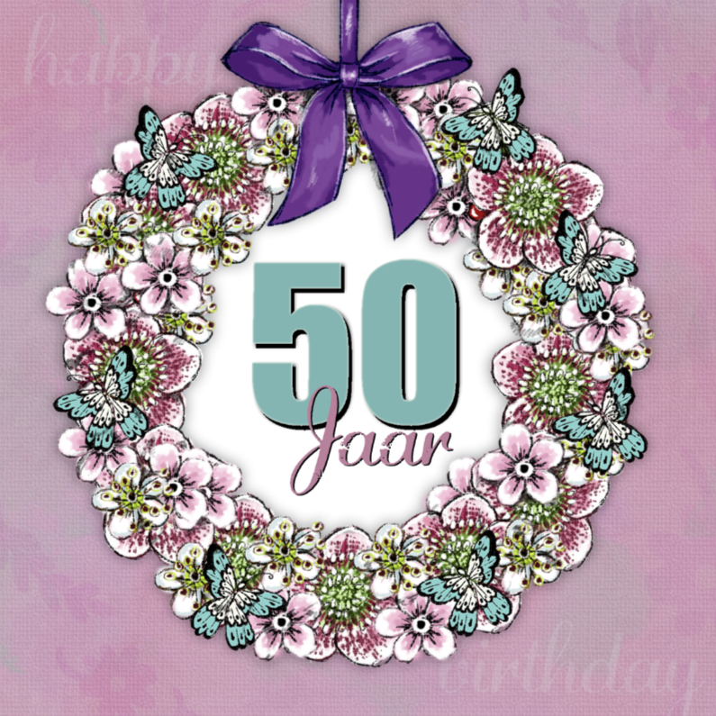 Verjaardagskaart Krans Sara - IH 1
