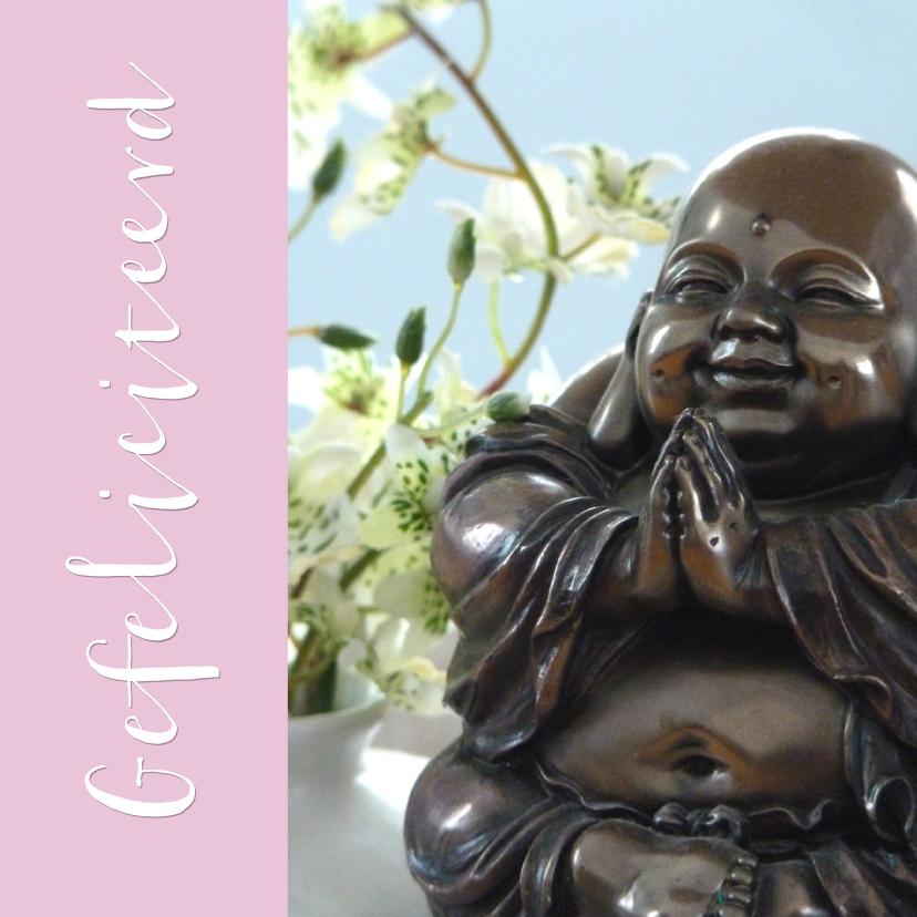 Verjaardagskaart lachende Boeddha 1