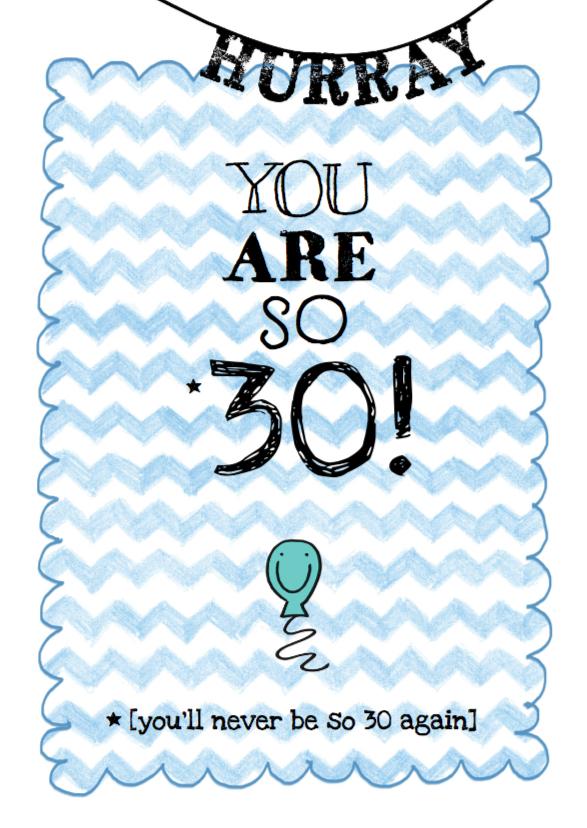 Verjaardagskaart leeftijd ballon 1