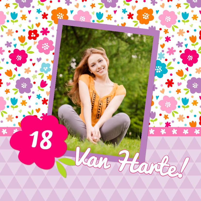 Verjaardagskaart Lente Bloemen 1