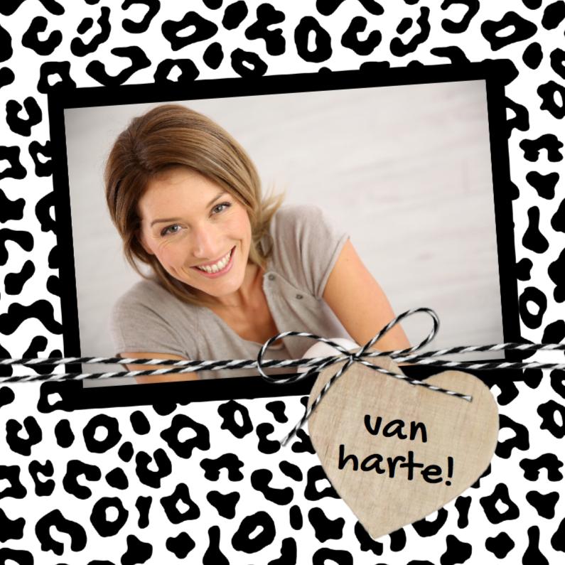 Verjaardagskaart Luipaard Hart 1