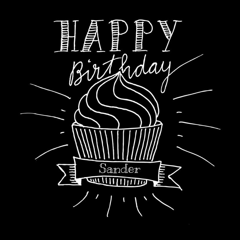 Verjaardagskaart met cupcake SW 1