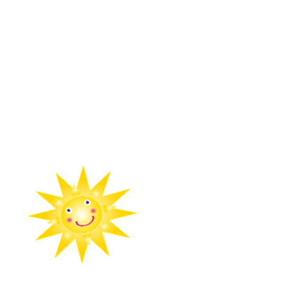 Verjaardagskaart met een zon 2