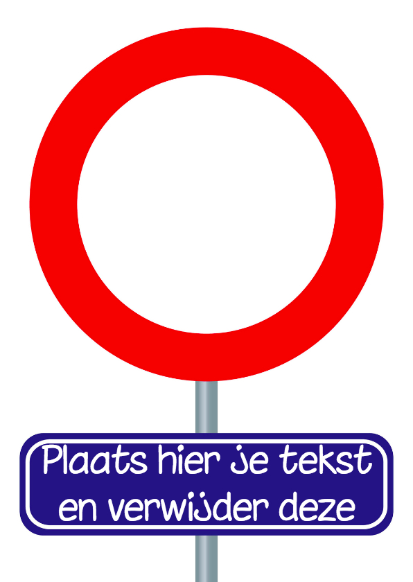 verjaardagskaart met verkeersbord 1