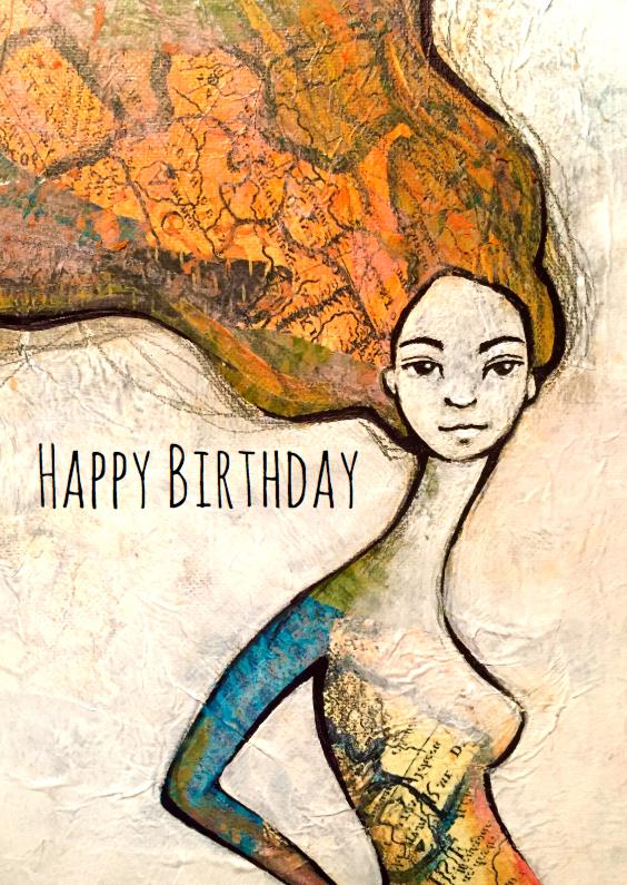 Verjaardagskaart Mooie vrouw 1