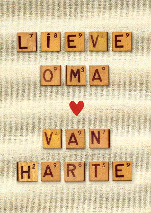 Verjaardagskaart Oma van harte 1
