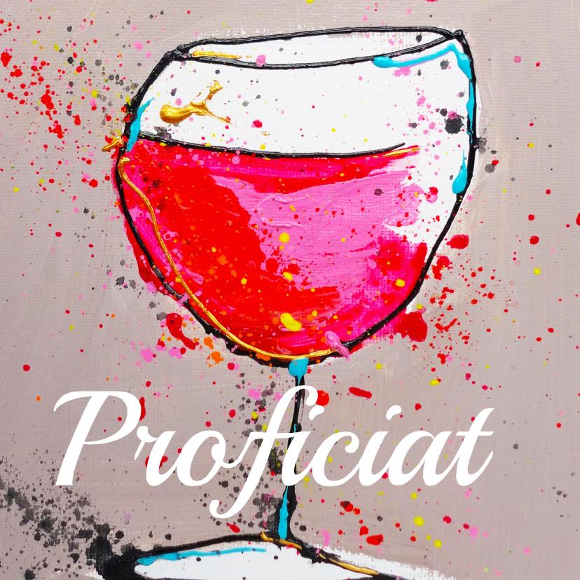 Verjaardagskaart Proost wijntje 1