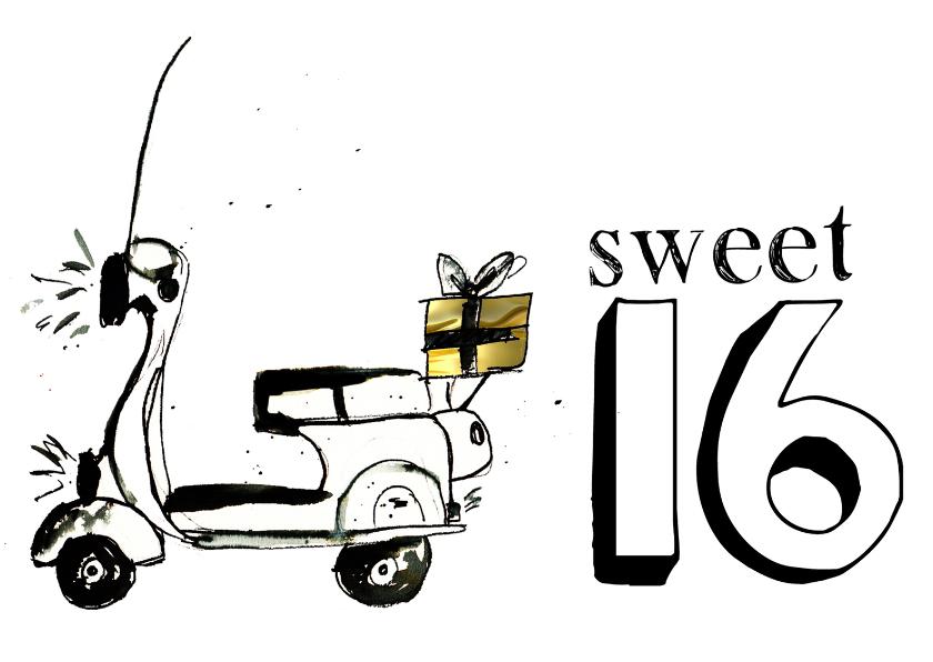 Verjaardagskaart Sweet 16 1