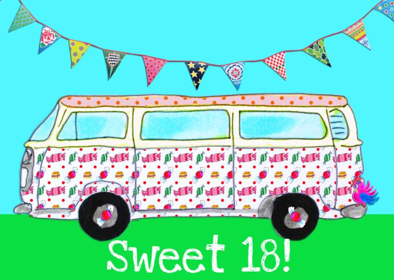 Verjaardagskaart Sweet 18 PA 1