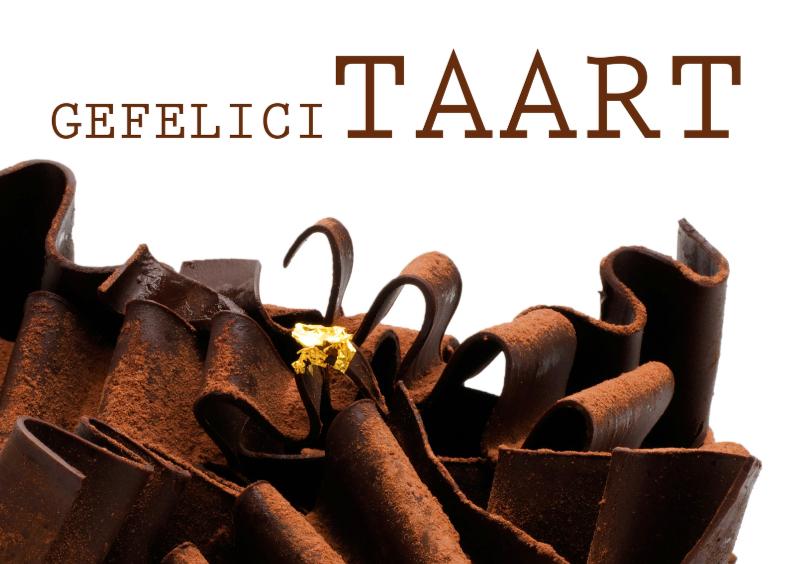 Verjaardagskaart Taart Chocolade 1