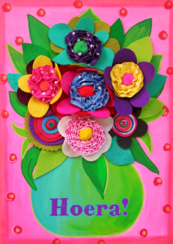 Verjaardagskaart Vilt PA 1