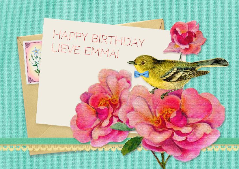 Verjaardagskaart zoet & lief 1