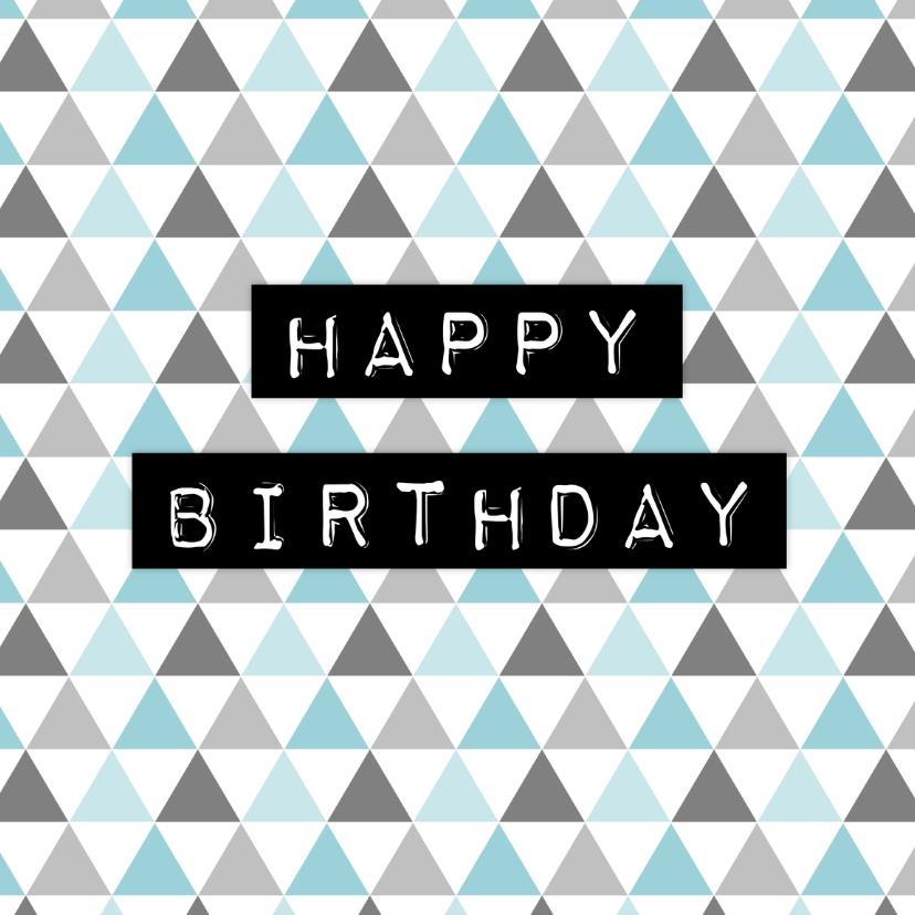 Verjaardagskaartje Driehoek - WW 1