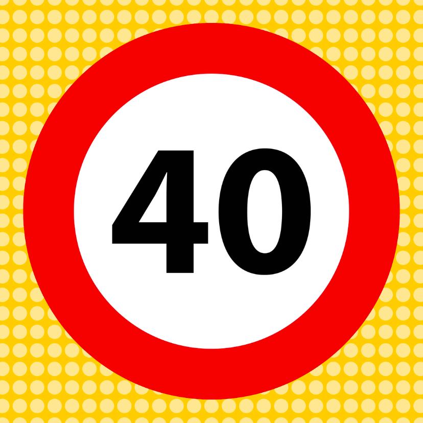 Verkeersbordkaart 40 1