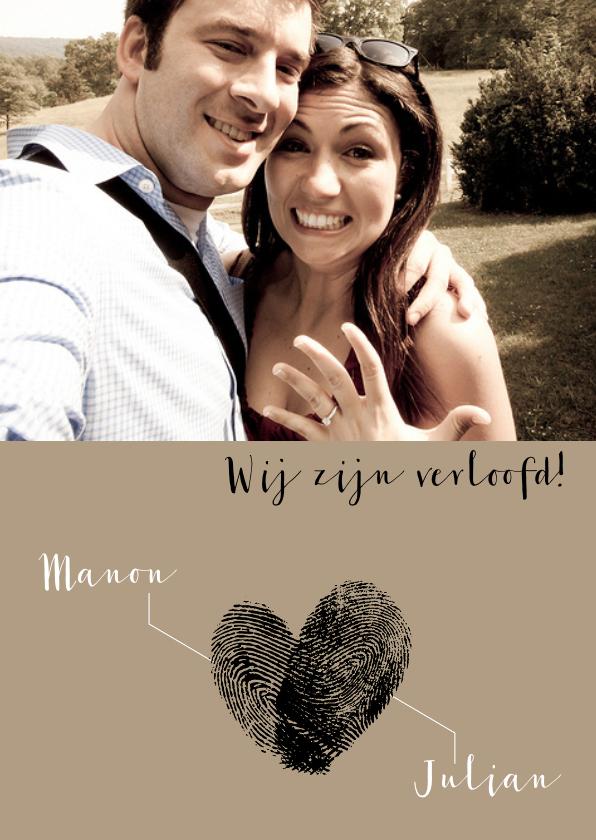 Verlovingskaart vingerafdrukken 1