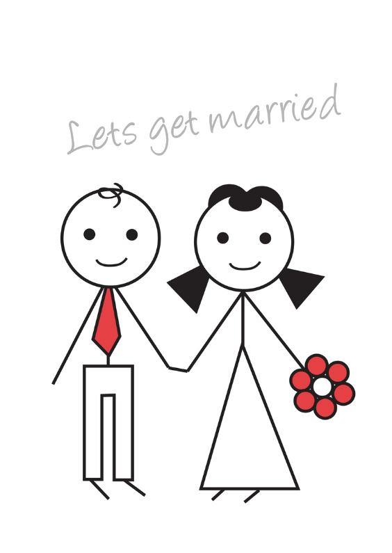 Verrassende trouwkaart 1