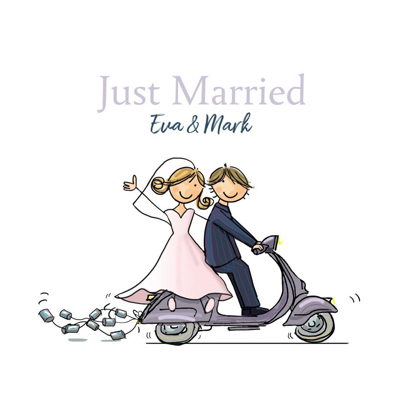 Vespa just married 1