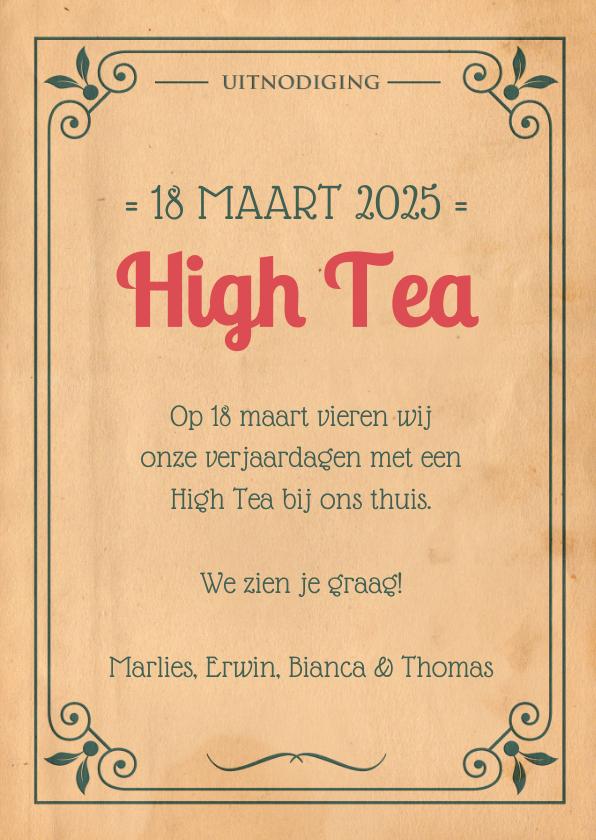 Vintage poster High Tea 1LS3 3