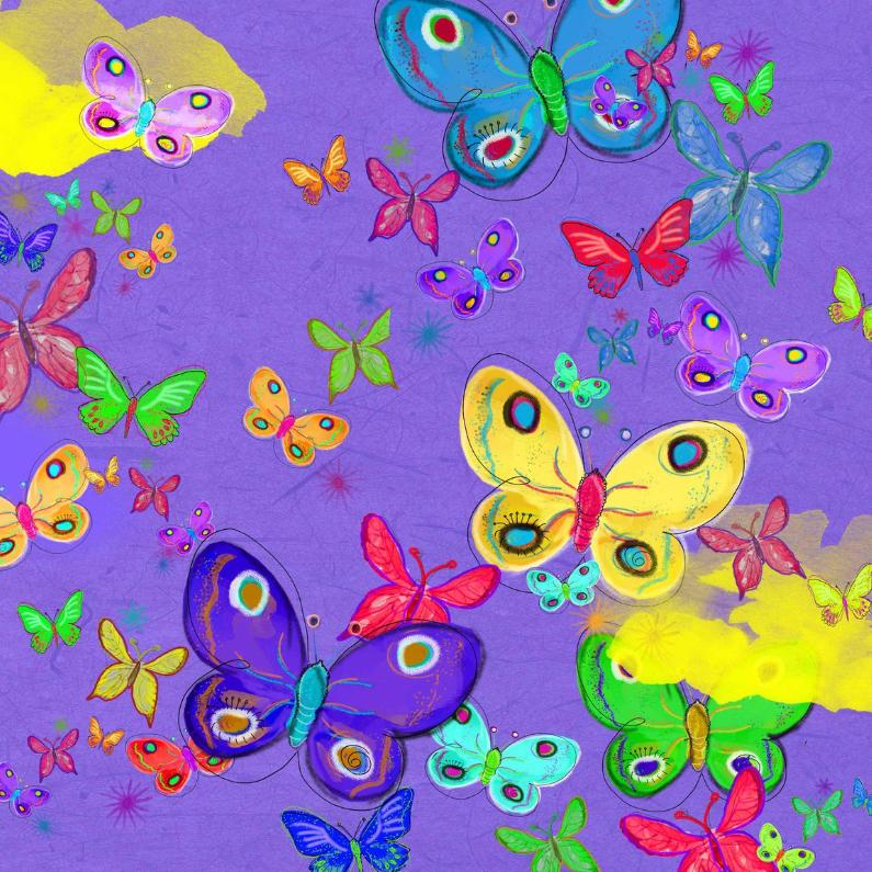 Vlinder paars 1