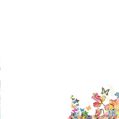 Vlinders en bloemen verjaardags 3