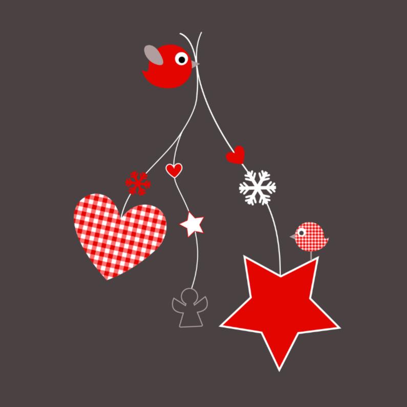 Vogeltje met kerstfiguurtjes 1