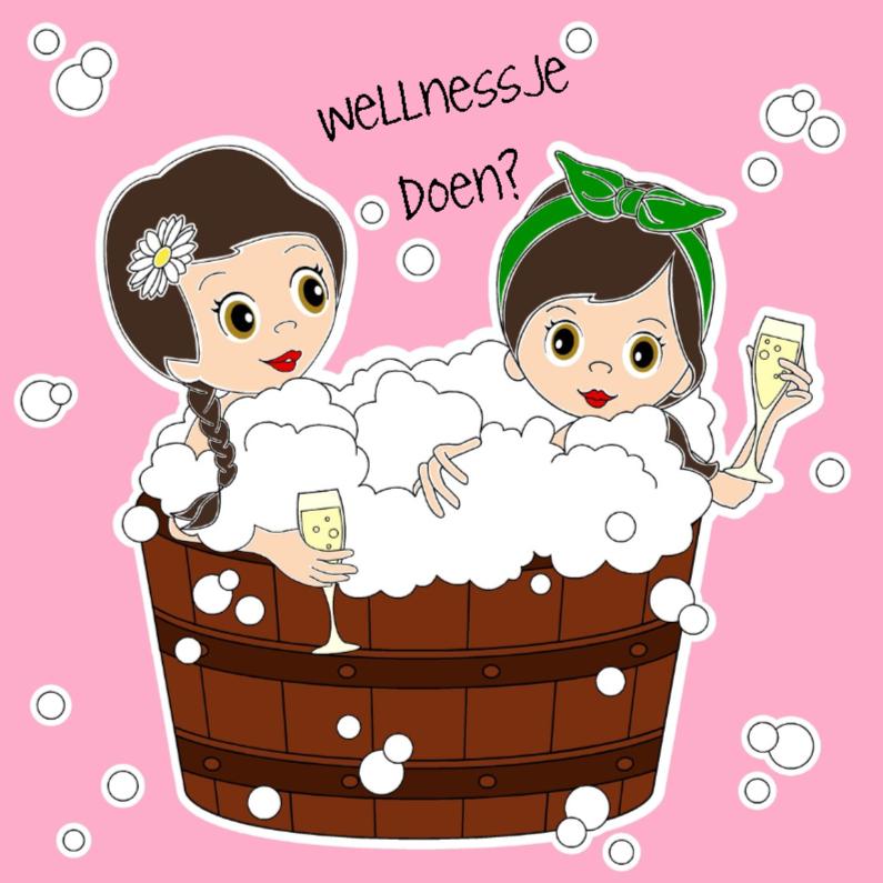 Vriendinnen in hot tub 1