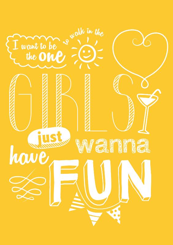 Vriendinnenkaart Girls Fun 1