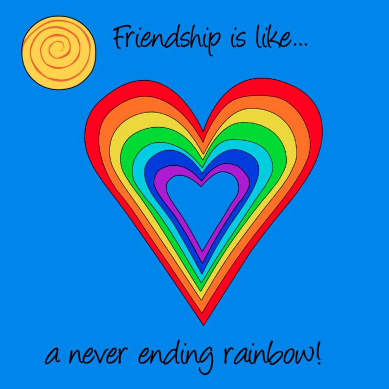 Vriendschap is... met regenboog 1