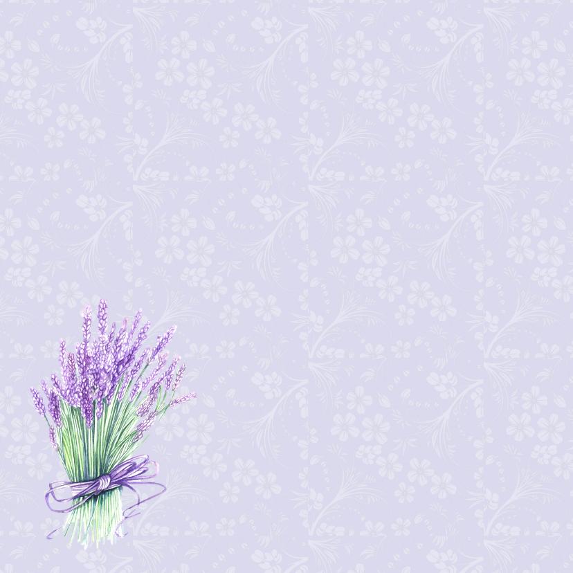 Vriendschap lavendel in glas 2