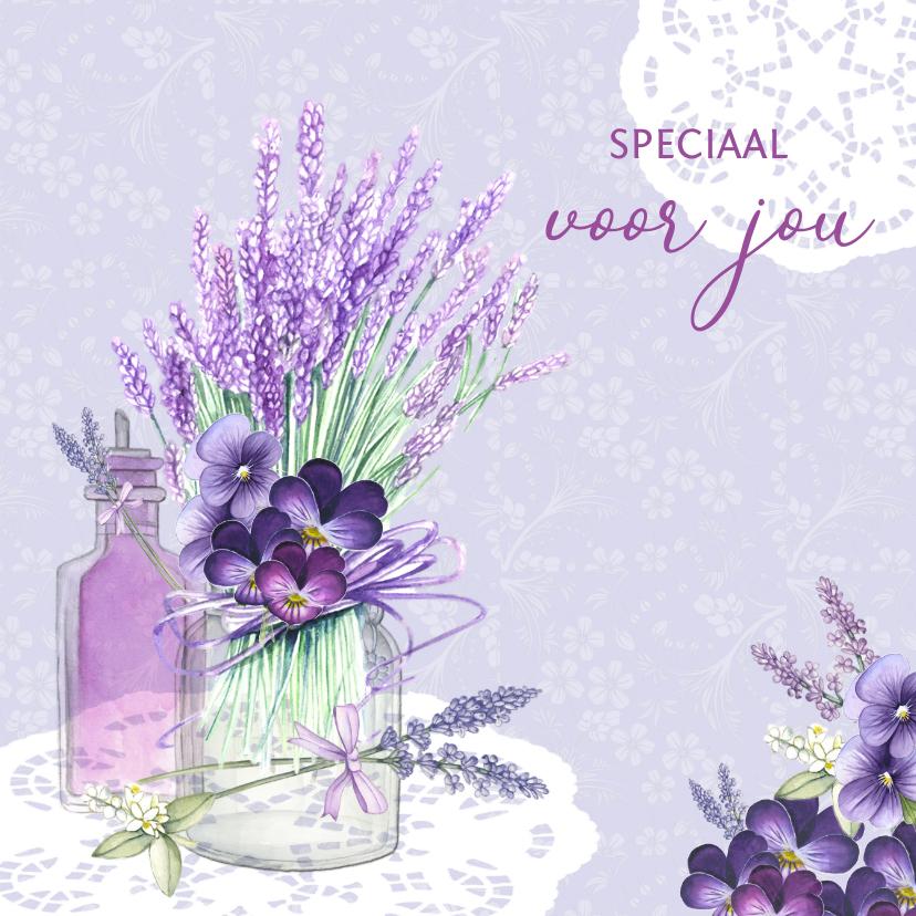 Vriendschap lavendel in glas 1
