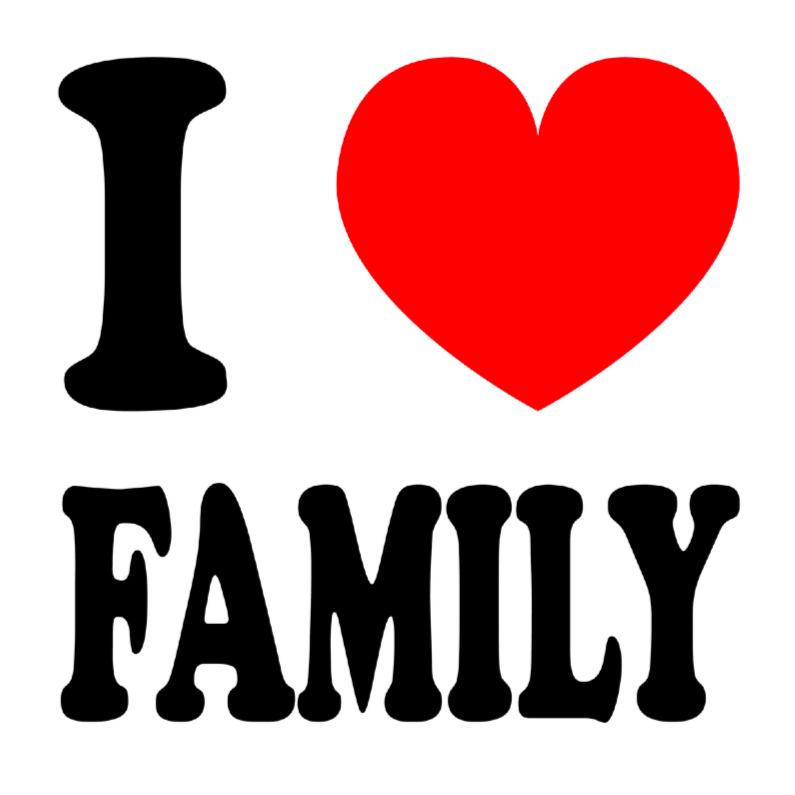 Vriendschapskaart I love family 1