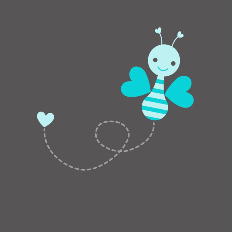 Vrolijk blauw vlindertje 1