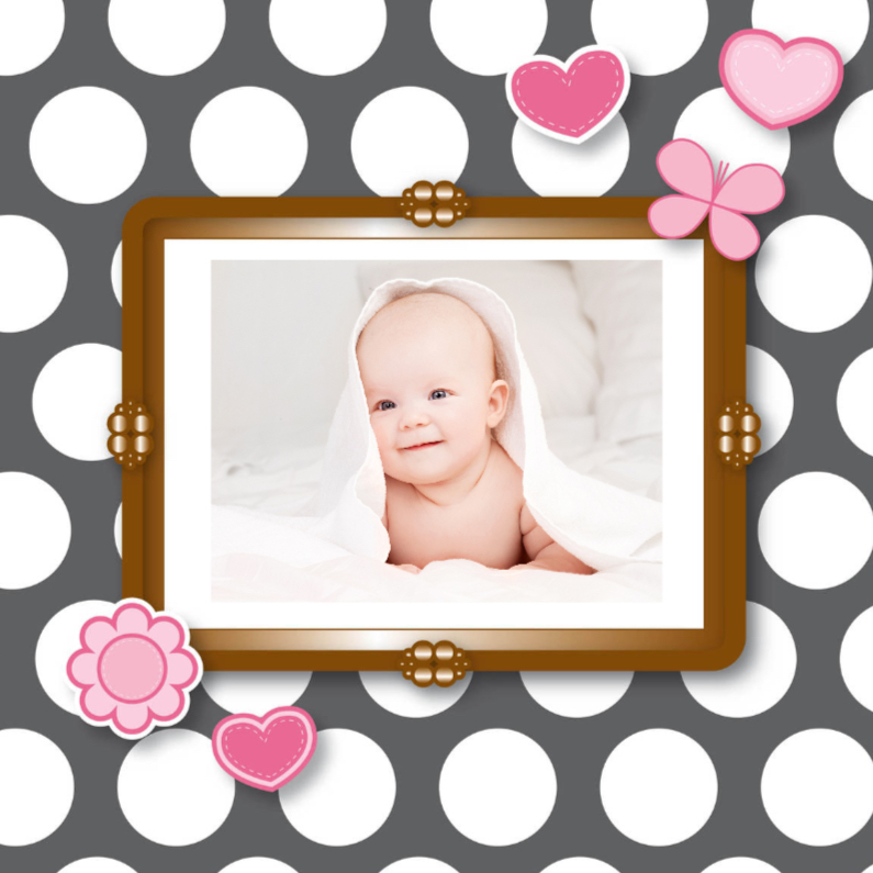 vrolijk geboortekaartje 27 eigen foto 1