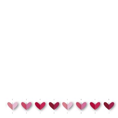 vrolijk geboortekaartje 32 hartjes roze 3