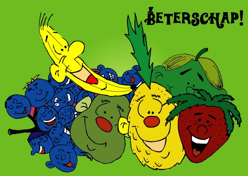 vrolijke beterschapskaart fruit 1