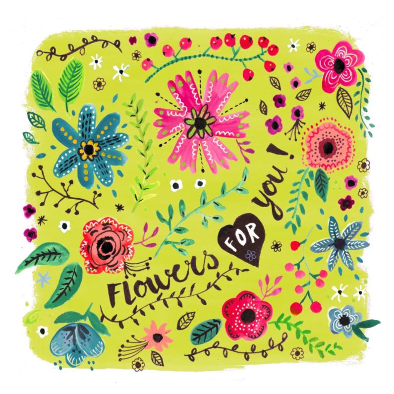 Vrolijke bloemen voor jou 1