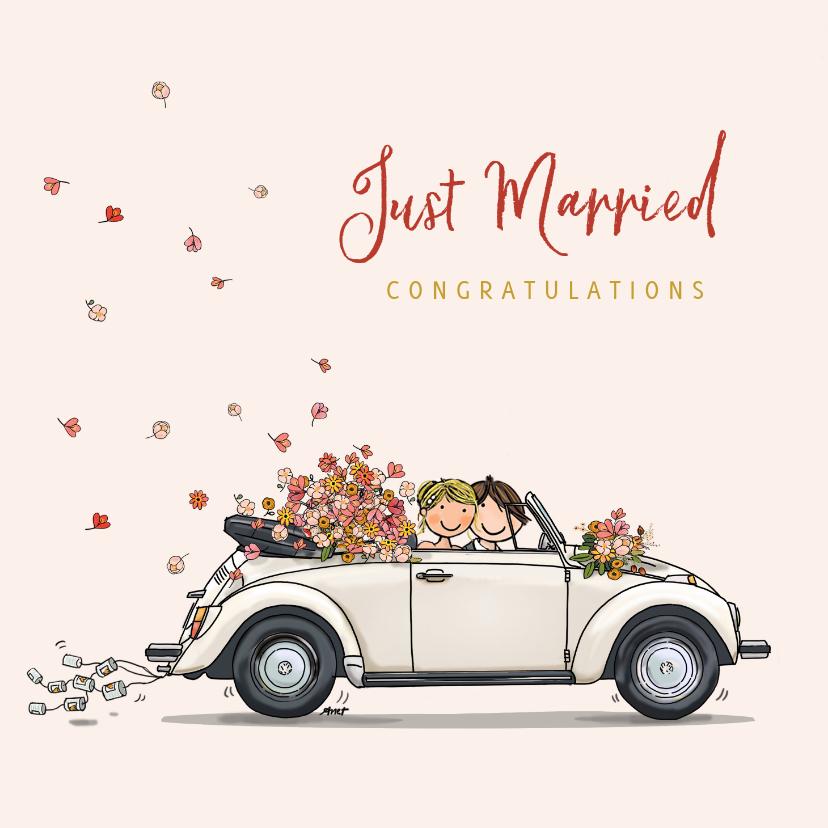 VW Kever met bruidspaar 1