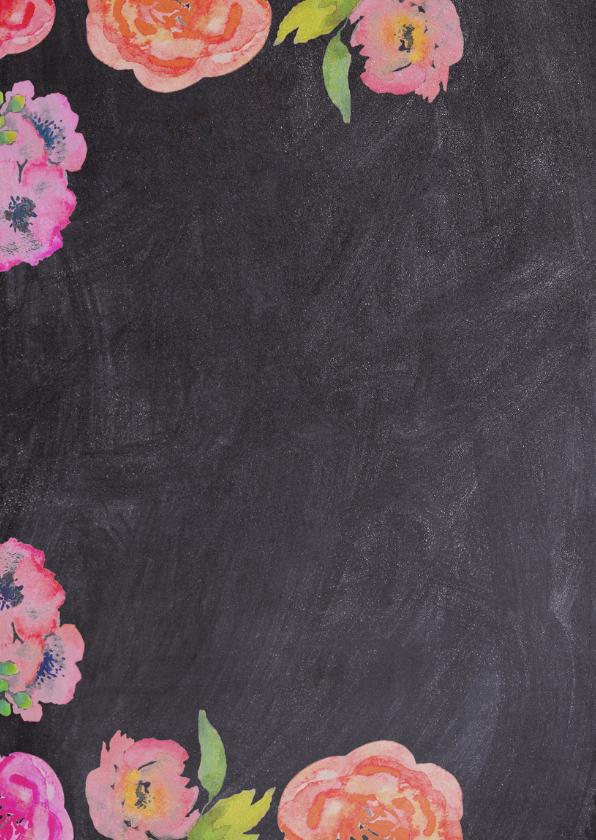 Watercolor flowers geboorte - DH 2
