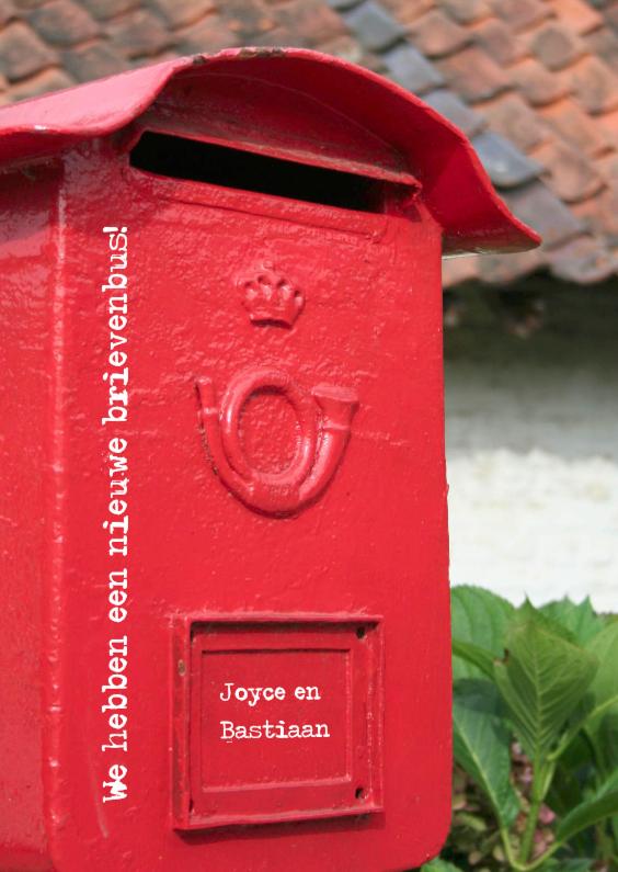We hebben een nieuwe brievenbus 1
