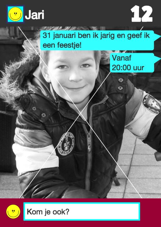 WhatsApp Uitnodiging stoere jongens 1