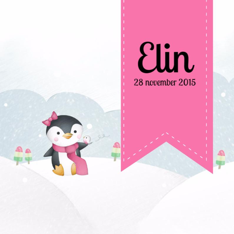 Winter pinguin 1