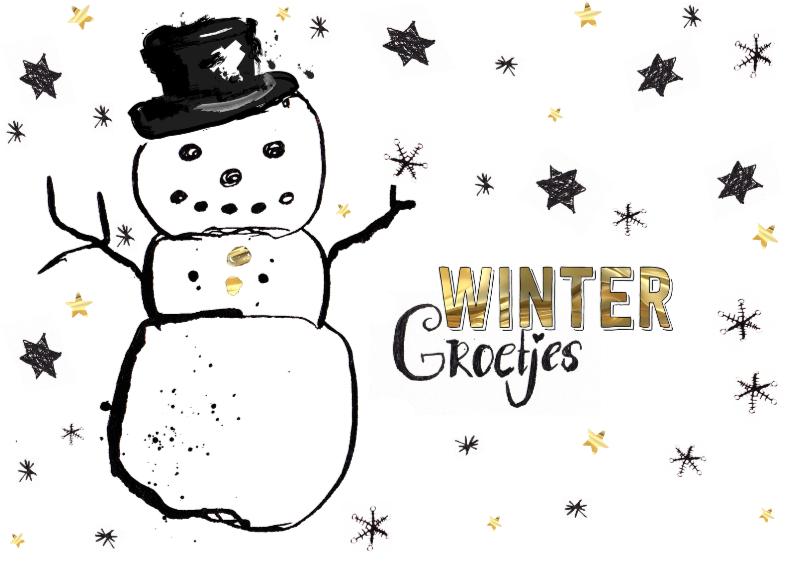 WInterkaart winter groetjes 1