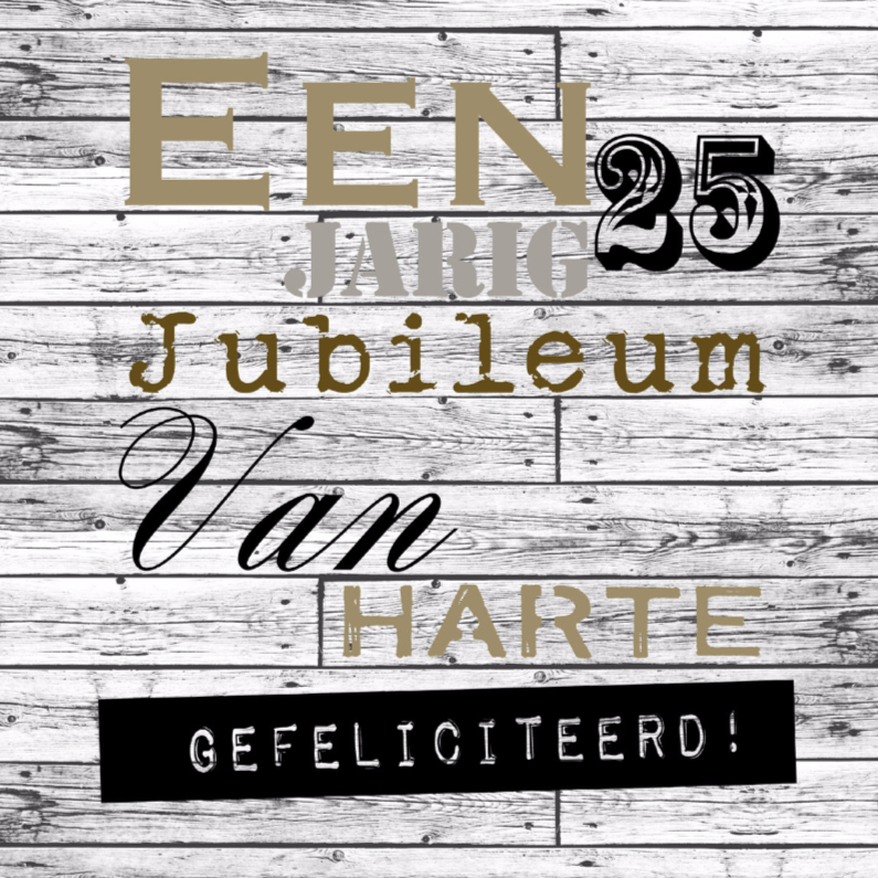 Woorden 25 jarig jubileum - BK 1