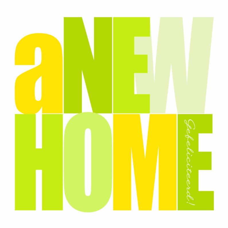 Woorden A New Home Lime - BK 1
