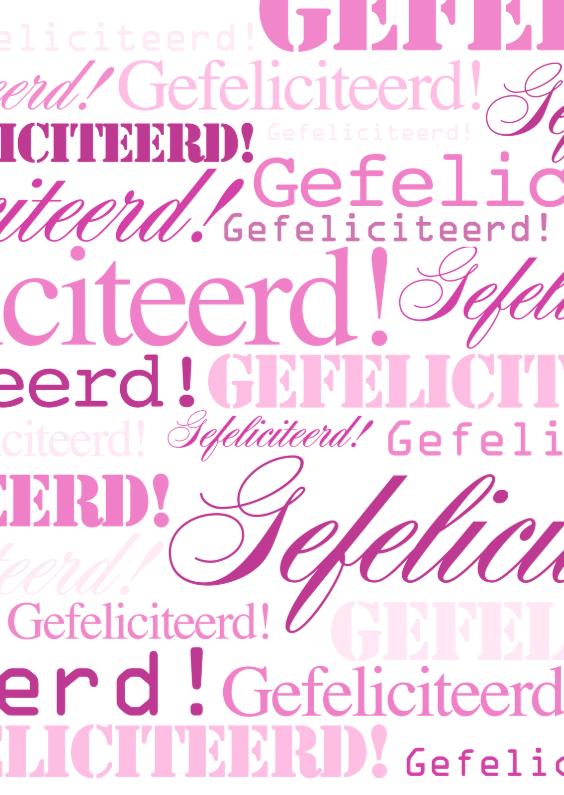 Woorden Gefeliciteerd Girl - BK 1