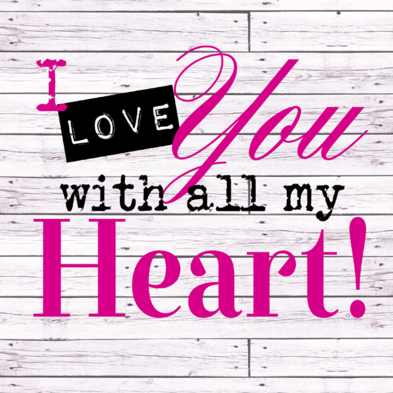 Woorden I love you with... - BK 1