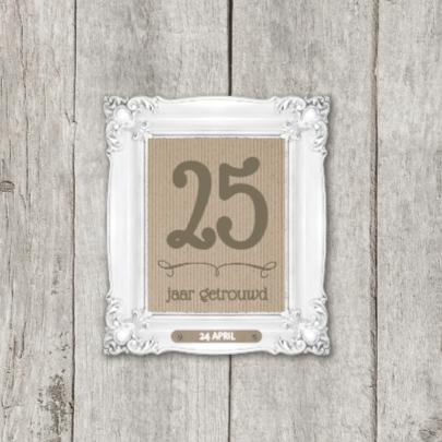 XX  jaar getrouwd jubileumkaart 2