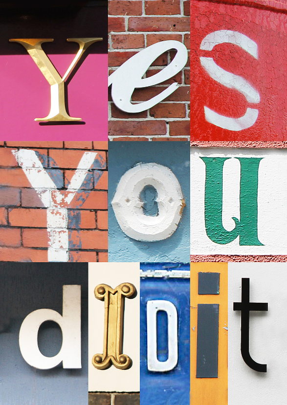 Yes you did it - letters 1
